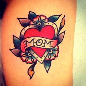 Who wouldn't want a traditional Mom tattoo? Perhaps one like this will be added to my collection. Can't go wrong with classic.